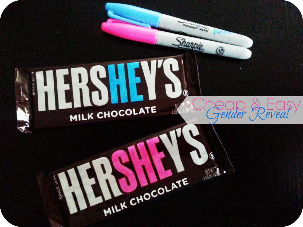 Hershey's Bar Gender Reveal