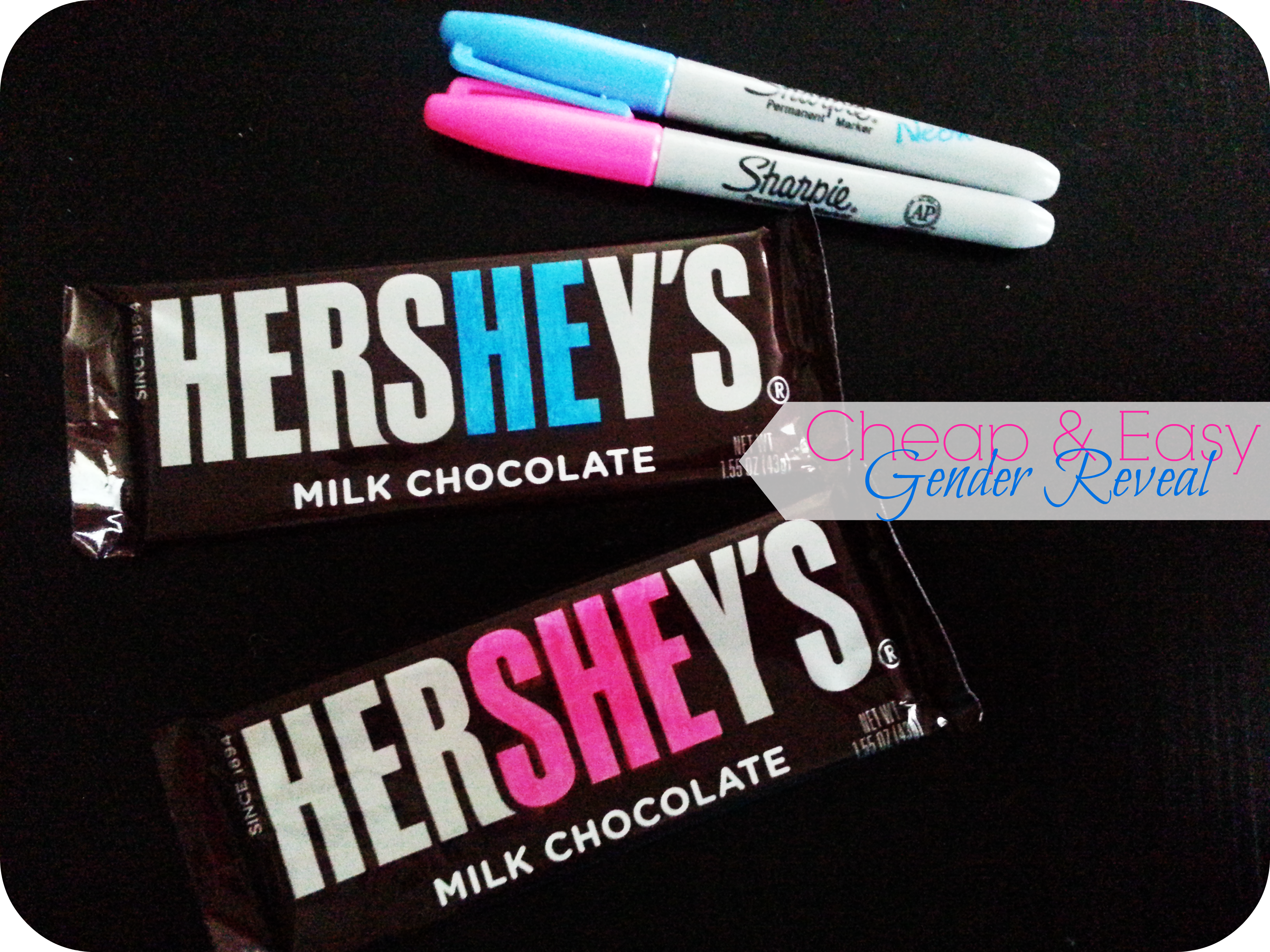 Cheap and Easy Baby Gender Reveal The Denver Housewife – Hershey Bar Birth Announcements