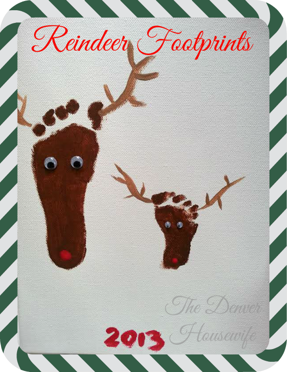 Christmas Reindeer Footprint Craft