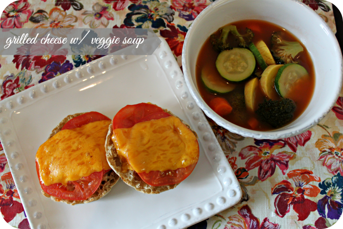 weight watchers grilled cheese and vegetable soup