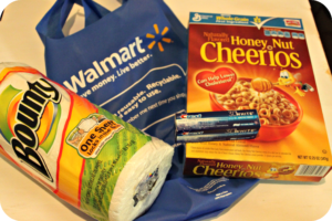Walmart to go goodie bag