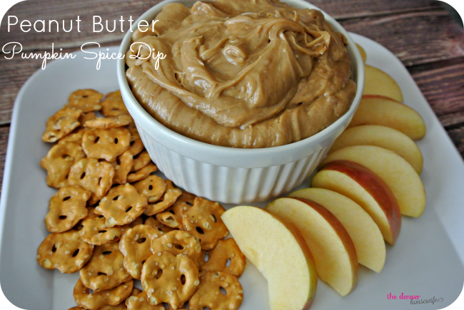 Peanut Butter Pumpkin Pie Spice Dip with Jif Whips!