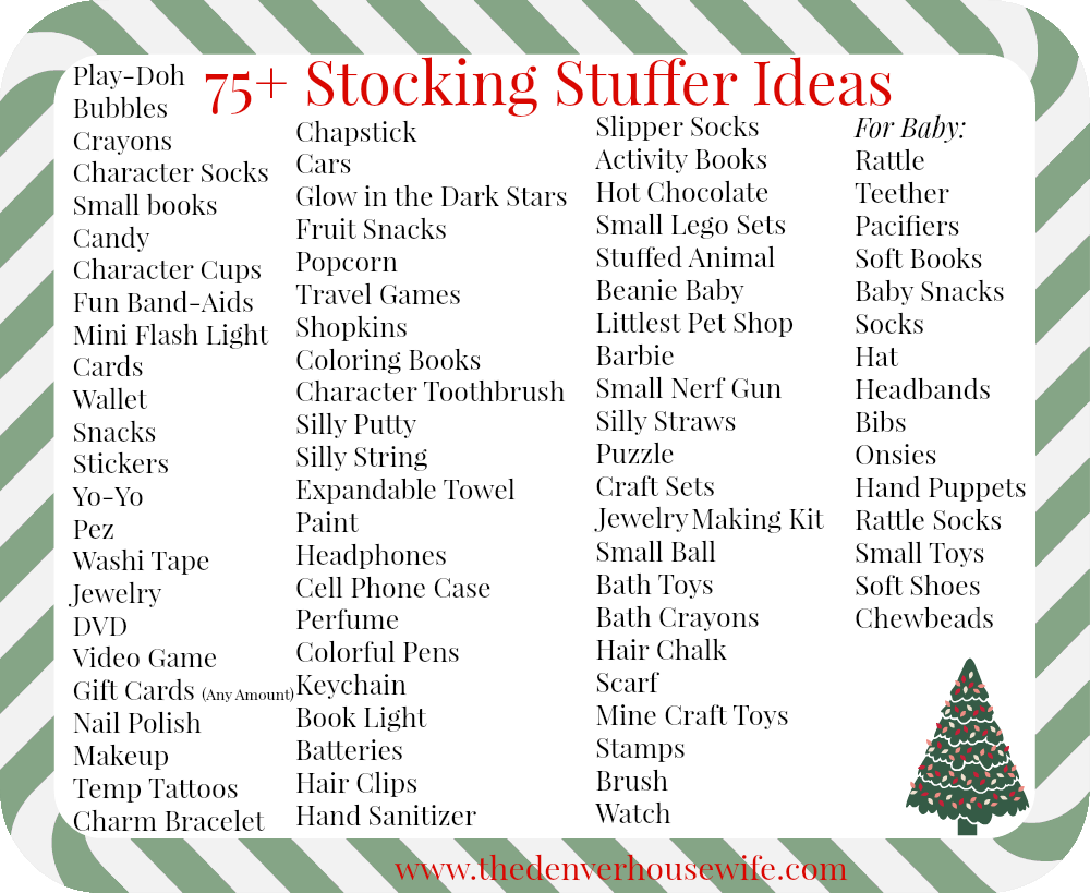 75 Stocking Stuffer Ideas For Kids The Denver Housewife
