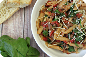One Pot Sausage and Wine Pasta