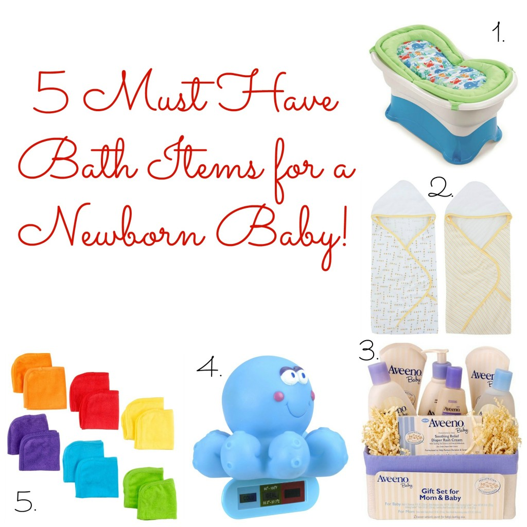 Must Have Baby Bath Products