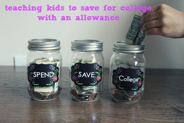 saving for college with an allowance