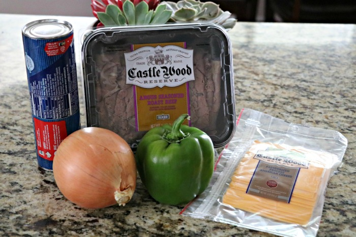 Philly Cheesesteal Roll-Up Ingredients