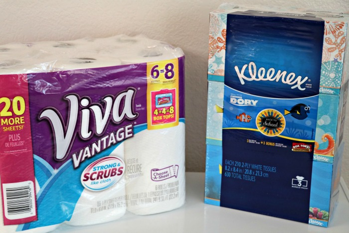 Earn Double Box Tops with Kleenex, Scott, and Viva Products!