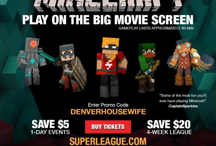 Super League Gaming: Minecraft Metropolis Madness in Lakewood and Boulder Colorado + Promo Code!