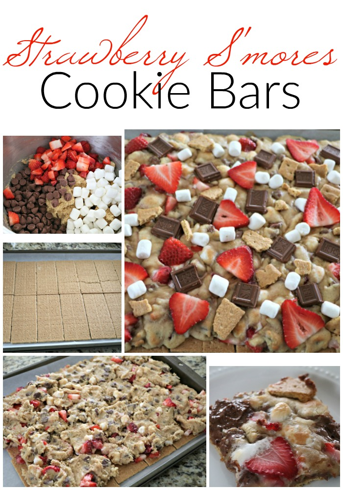 Strawberry S'mores Cookie Bars