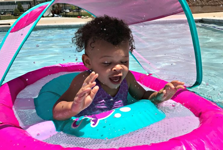 Summer Pool Fun with the SwimWays Baby Spring Float #SwimWays