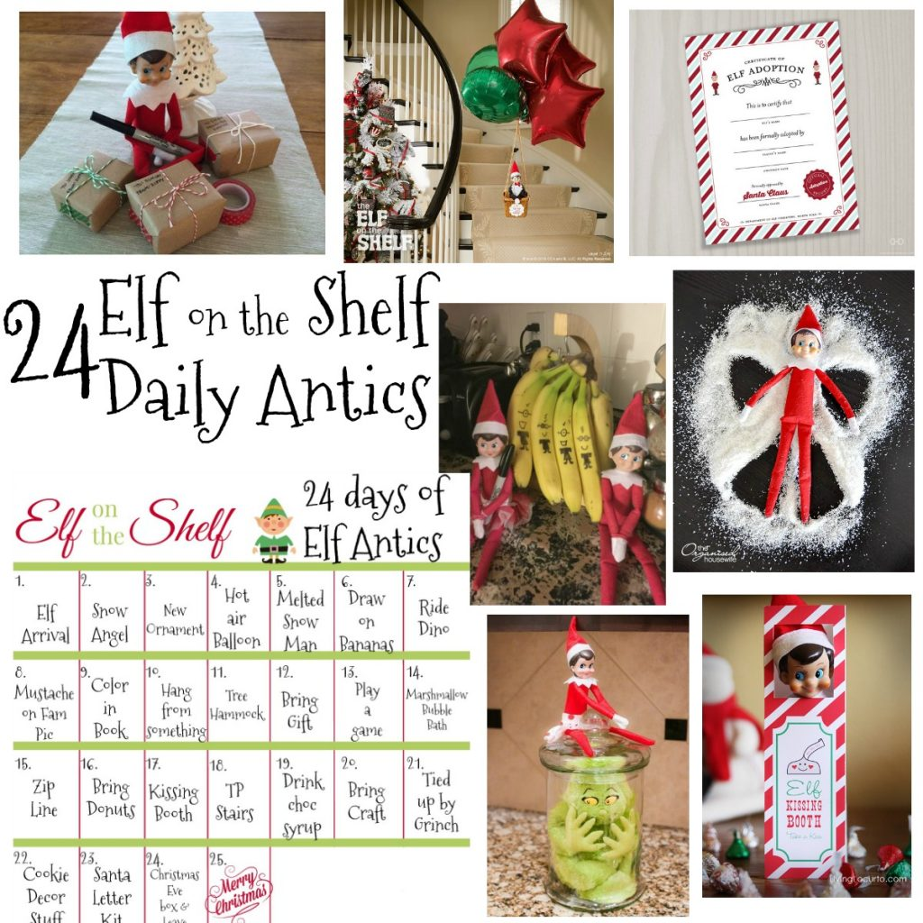 24 days of elf on the shelf ideas december 2017 elf calendar the denver housewife. Black Bedroom Furniture Sets. Home Design Ideas