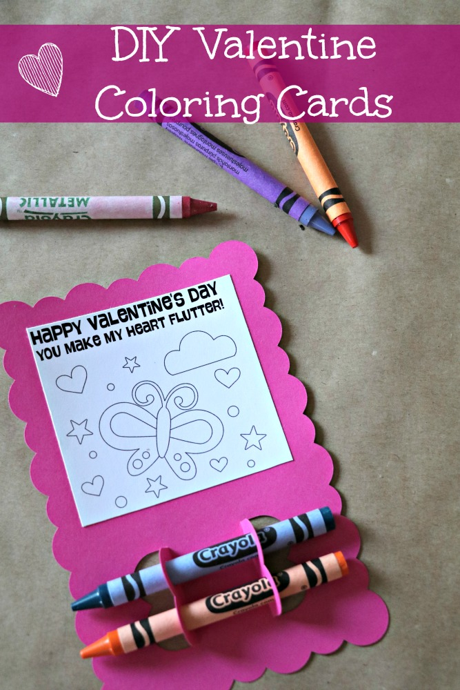 DIY: Coloring Card Valentines - The Denver Housewife