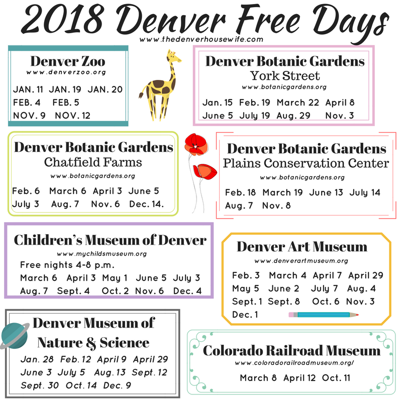 free days at denver museum of nature and science 2018