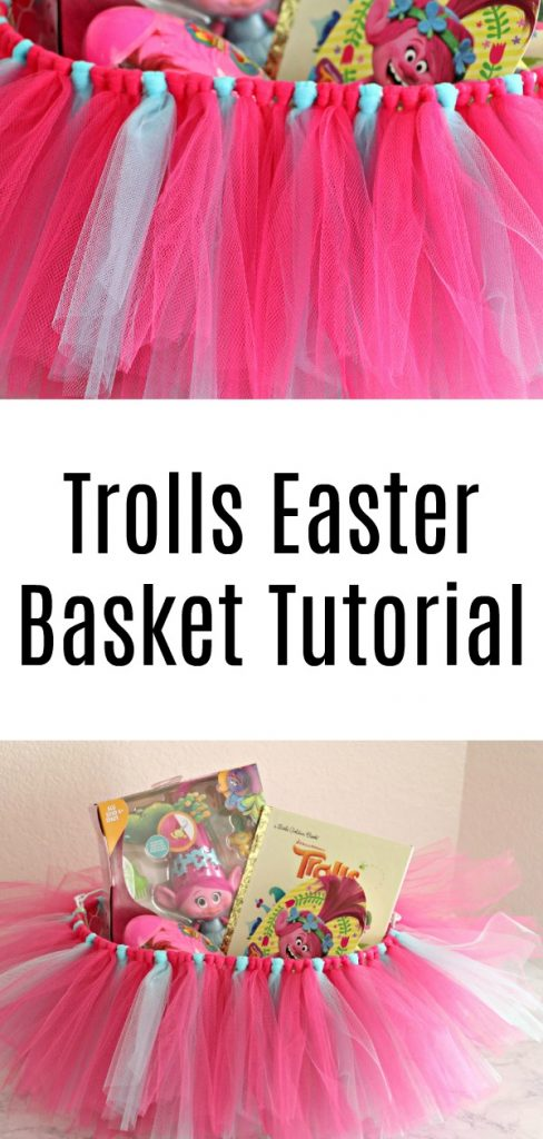 DIY Trolls Poppy Easter Basket