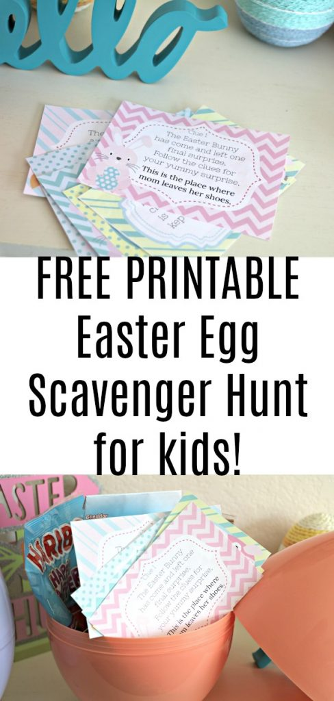 Free Easter Egg Scavenger Hunt Printable