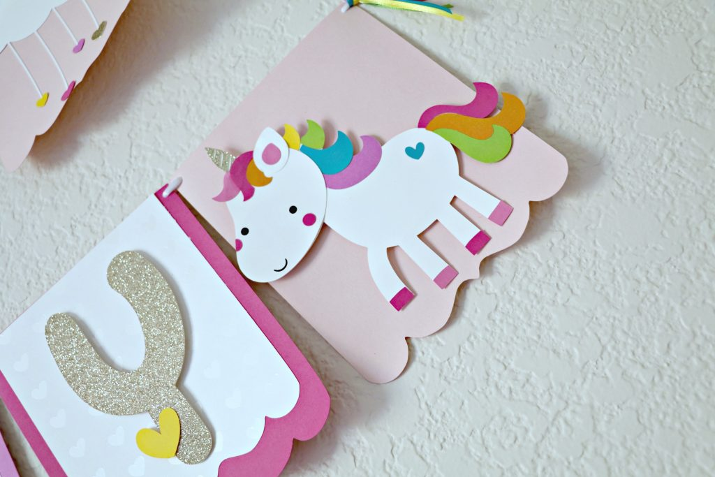 DIY Unicorn Birthday Banner