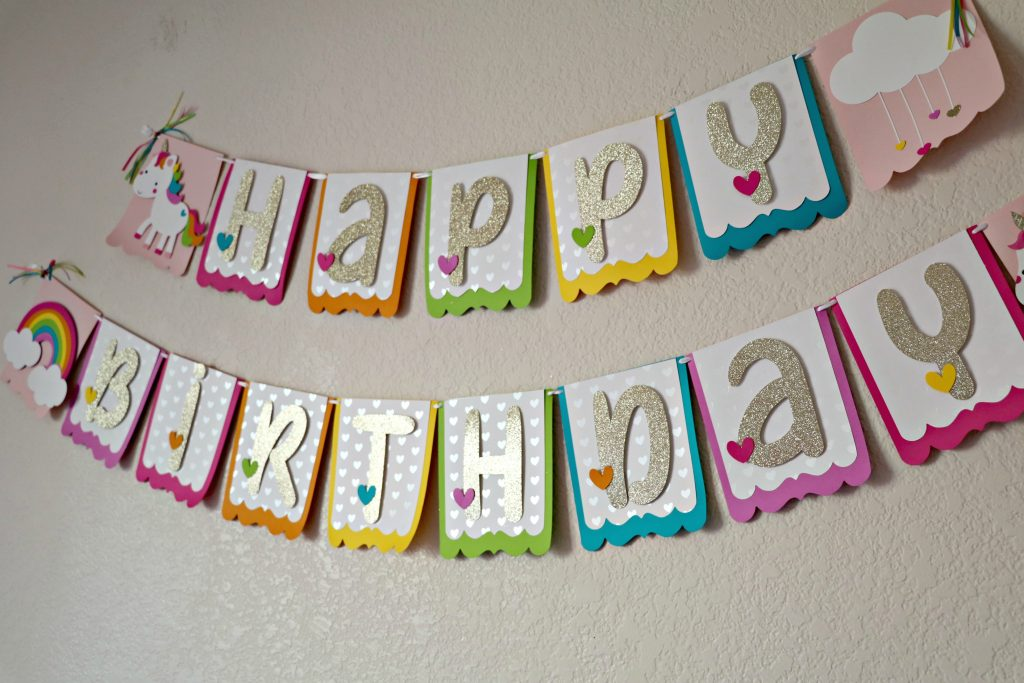 Happy Birthday Unicorn Banner DIY