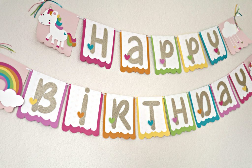 Silhouette Cameo Unicorn Party Banner Decoration