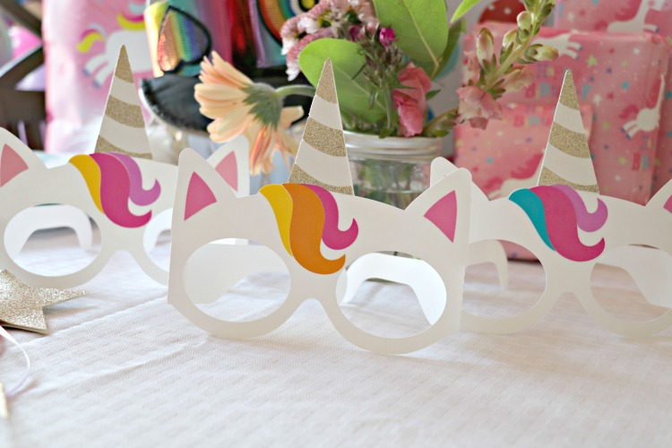 Unicorn Birthday party mask