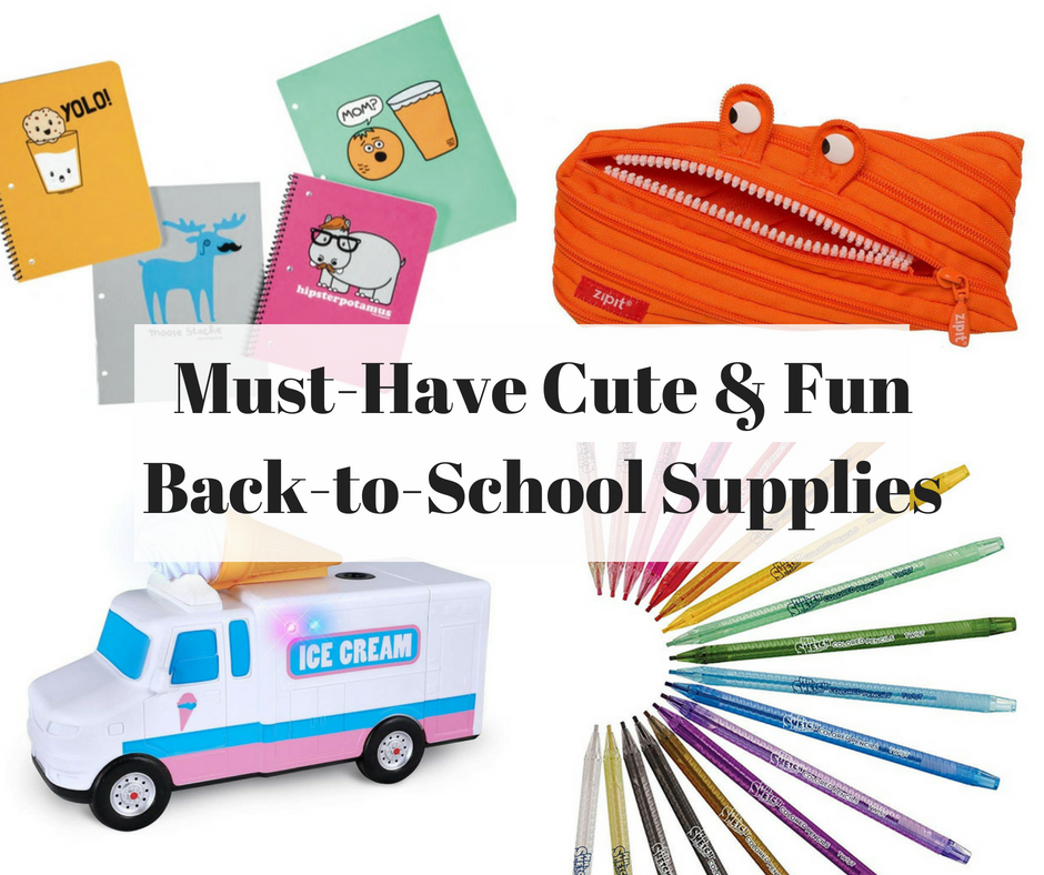 Cute & Fun Back to School Supplies
