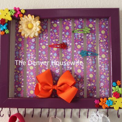 Hair Bow Holder How To