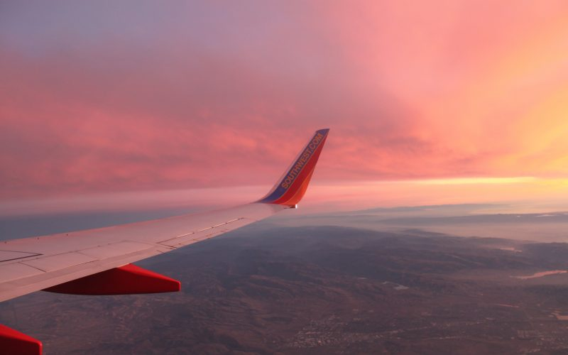 sunset from an airplane – wordless wednesday