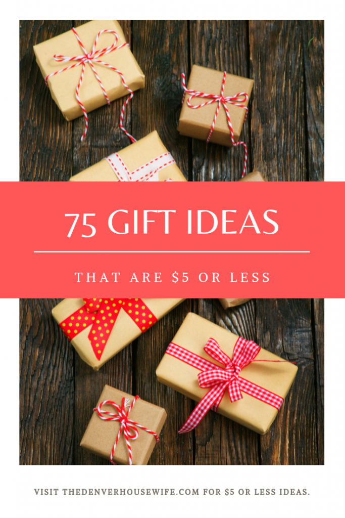 75 gift ideas that are less than $5