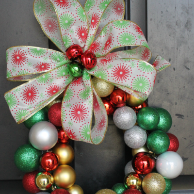 DIY: Christmas Ornament Wreath