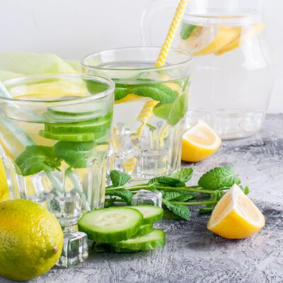 Lemon, Cucumber, and Mint Detox Water!