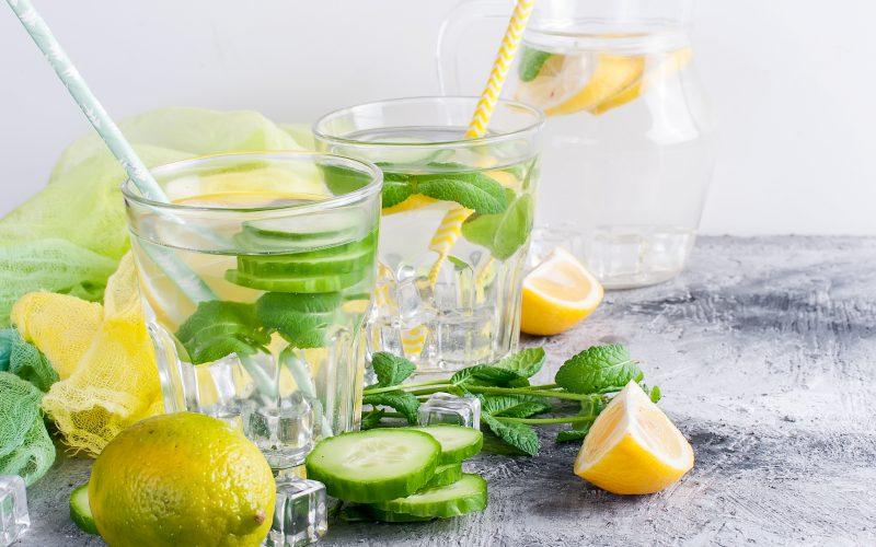Lemon, Cucumber, and Mint Detox Water!