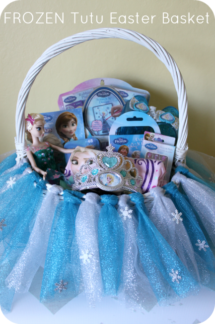 Diy Frozen Tutu Easter Basket Tutorial The Denver Housewife