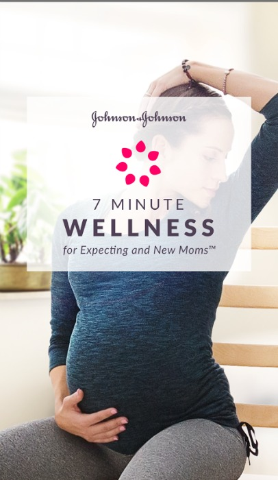 App Alert: Johnson & Johnson 7 Minute Wellness for Expecting and New Moms! #7MinMomApp