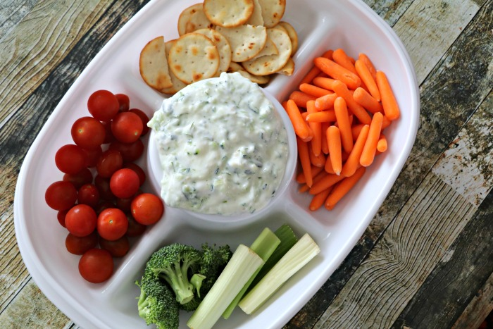 Cucumber Dill Dip with Clover Greek Yogurt!