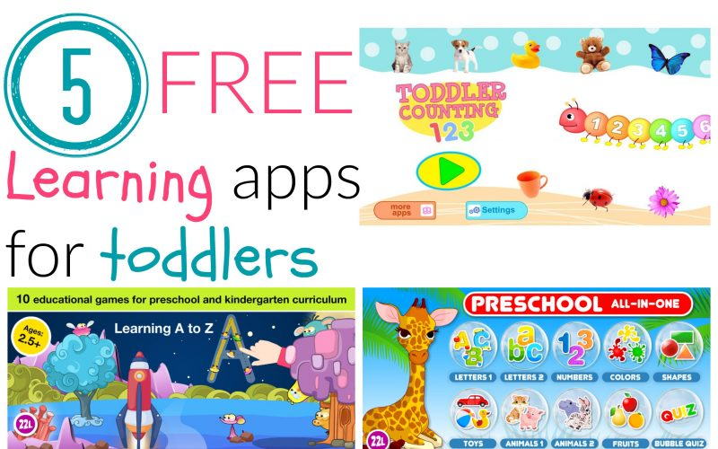 5 FREE Learning Apps for Toddlers