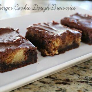 Butterfinger Cookie Dough Brownies!