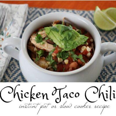 New Comfort Food: Chicken Taco Chili
