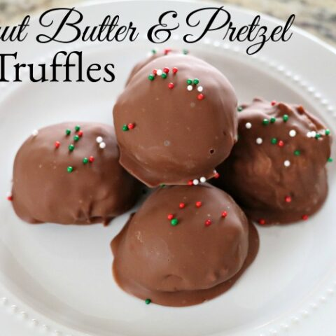 Peanut Butter & Pretzel Truffles with MaraNatha! #TooGoodForJelly