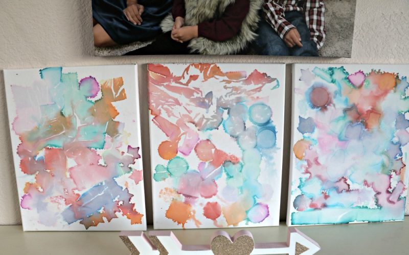 DIY Watercolor Canvas Art + Gymboree's Spring Collection!