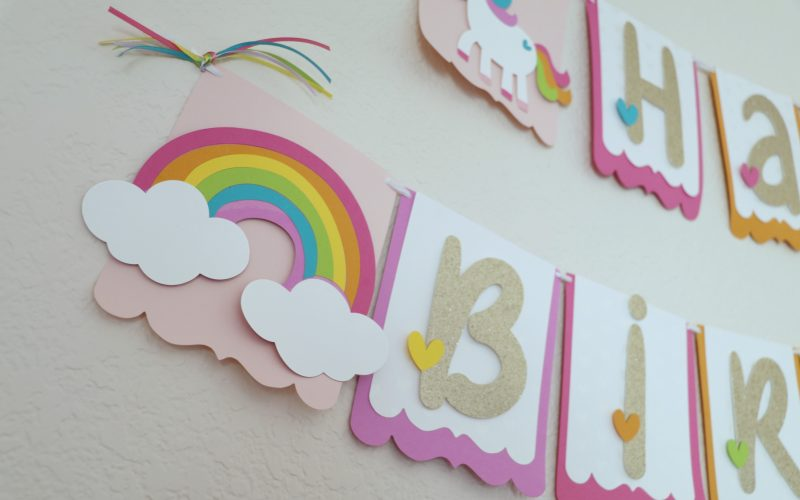 DIY Unicorn Birthday Party Decorations – Banner, Cake Topper, Party Favors, and Masks!