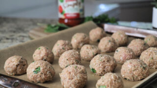 Turkey Meatballs with Mozzarella