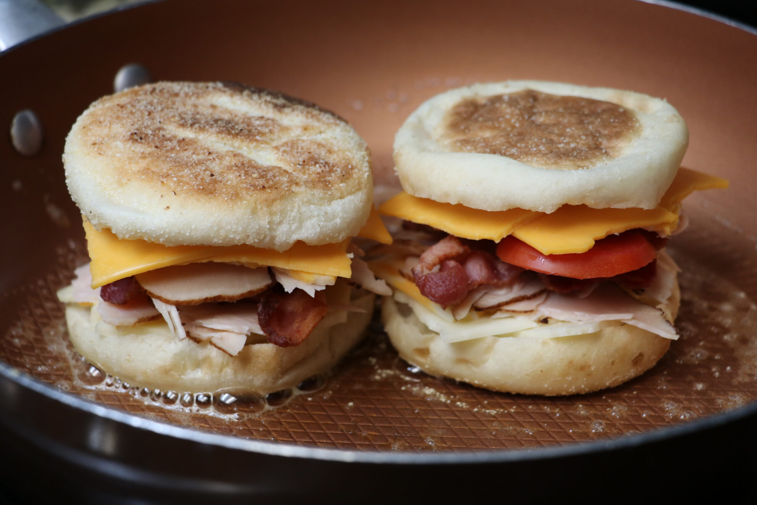 Turkey & Bacon Grilled English Muffins!