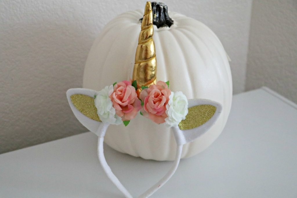 Unicorn Headband Pumpkin Tutorial