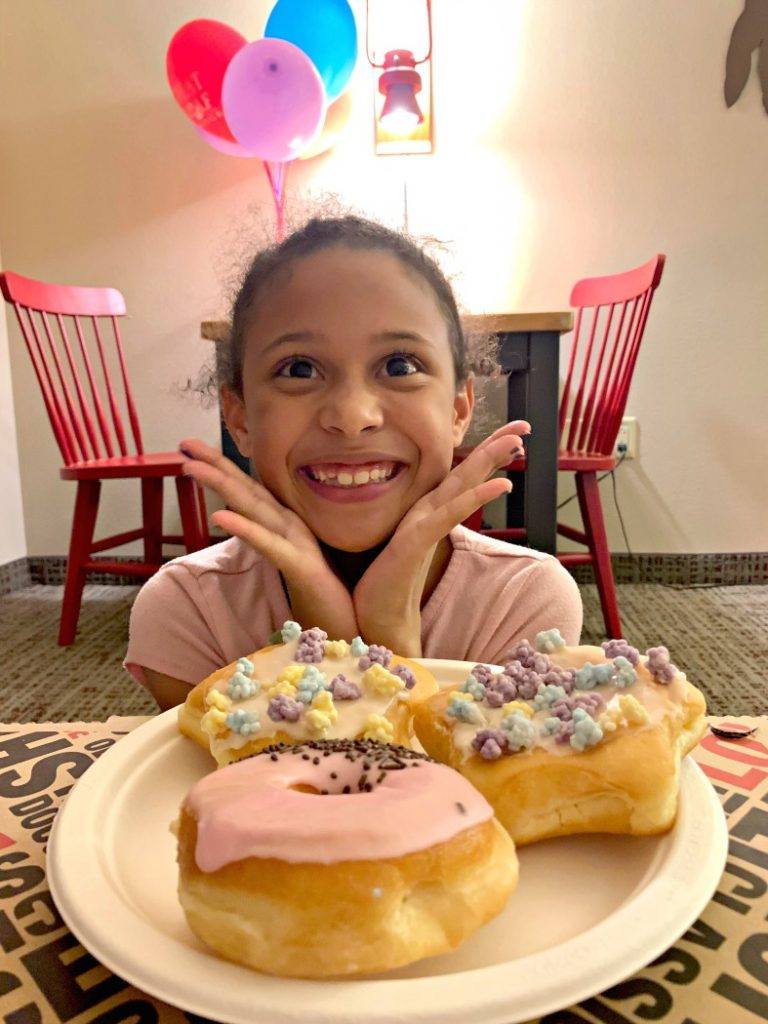 Birthday Donuts at Great Wolf Lodge