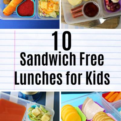 10 Sandwich Free School Lunchbox Ideas for Kids