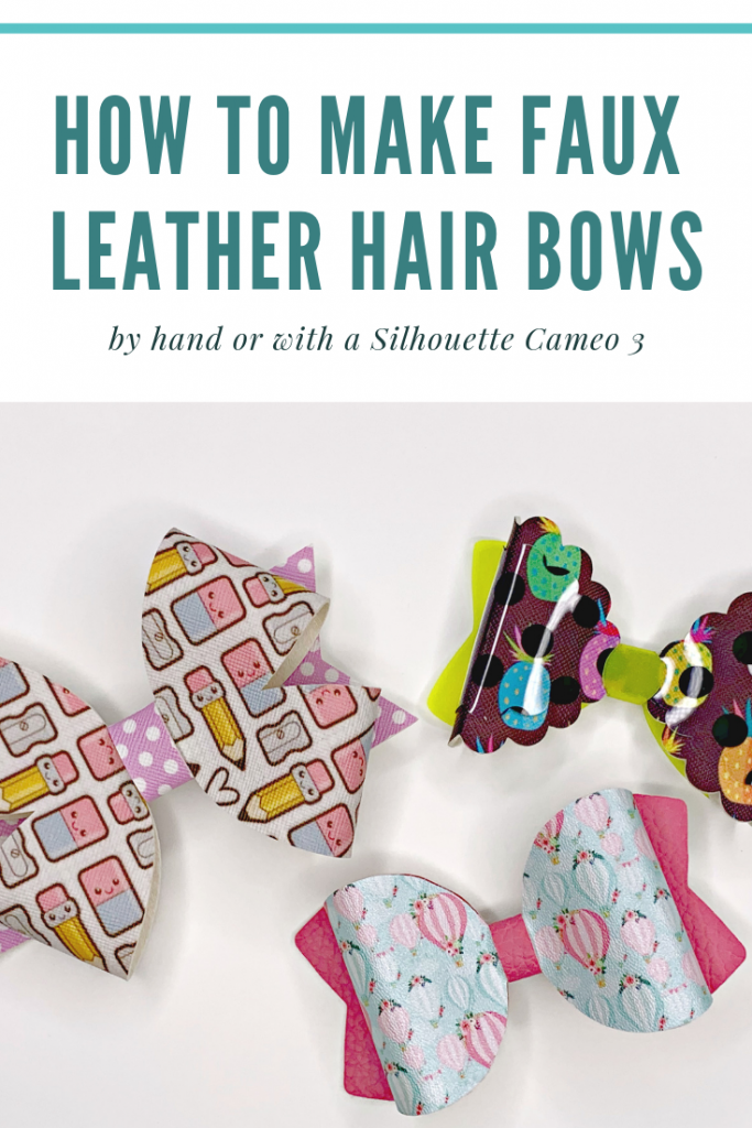 how to make faux leather hair bows