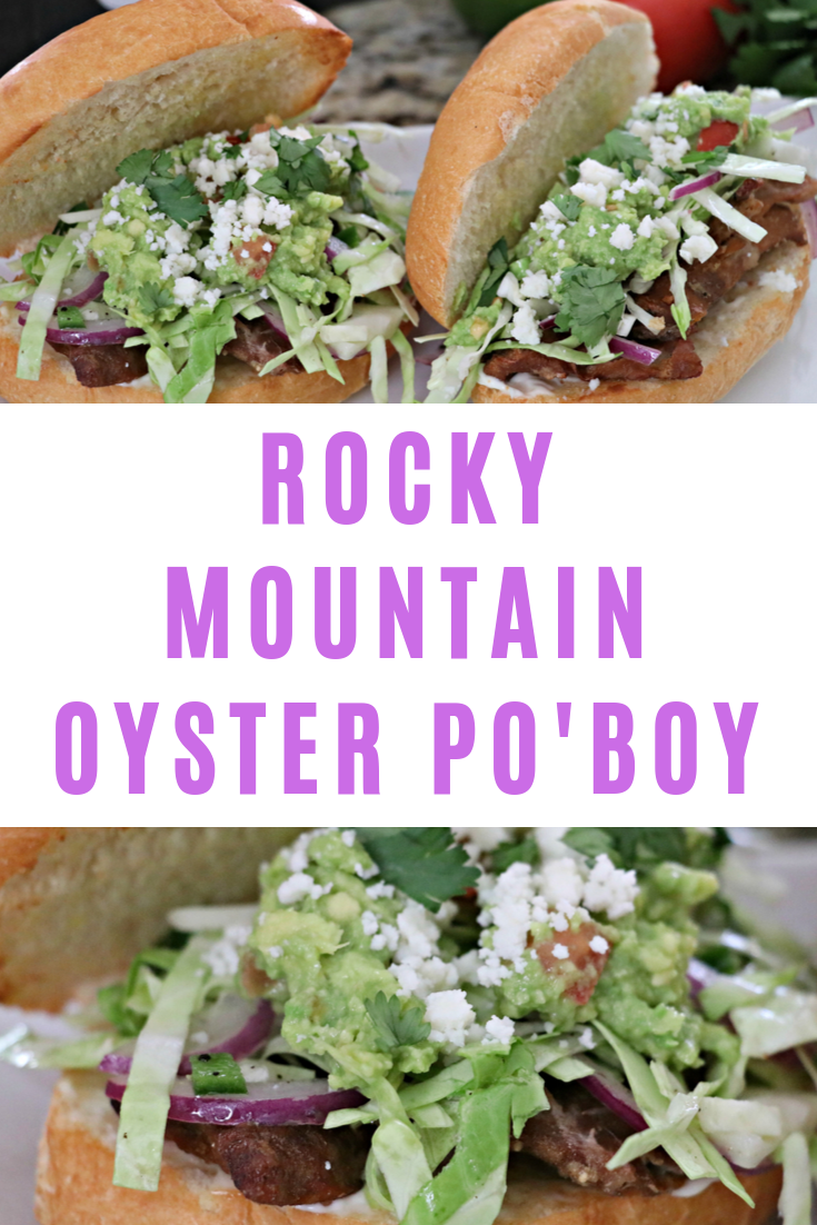 Grilled Rocky Mountain Oyster Po'Boy