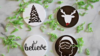 Christmas Coasters with Cricut Infusible Ink