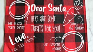 DIY Santa Cookies Tray Mat