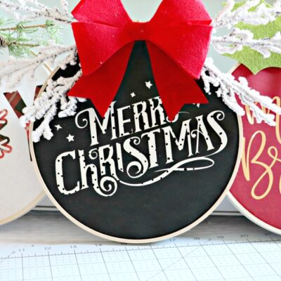 5 Reasons Why I love my Cricut Explore Air 2 + DIY Christmas Fabric Embroidery Hoop Wreath